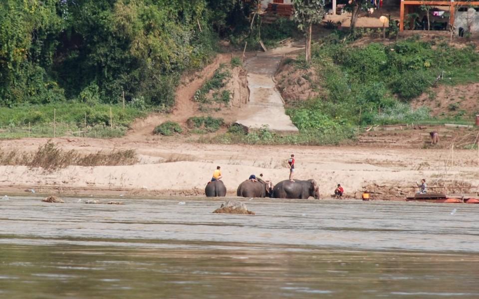 auf dem Mekong von Luang Prabang nach Pak Ou